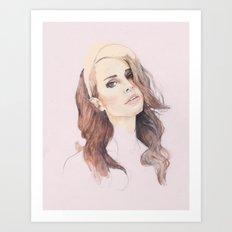 LANA: The Pale Pink Portrait Art Print
