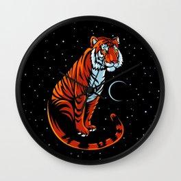 Tribal tiger long tail Wall Clock