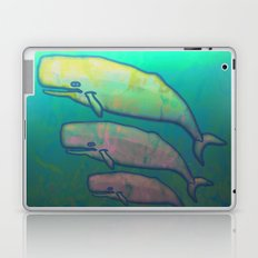 Whales Swimming Together Laptop & iPad Skin
