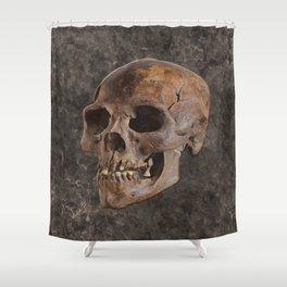 Archaeology II - Human Skull Shower Curtain