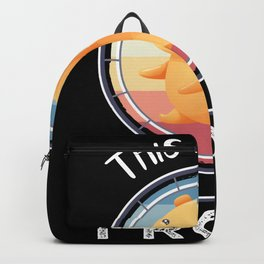 This is how I roll | Funny Hamster Gift Backpack