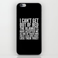 blankets iPhone & iPod Skins featuring THE BLANKETS HAVE ACCEPTED ME AS ONE OF THEIR OWN by CreativeAngel