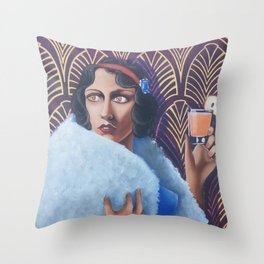Glam Snow White Throw Pillow