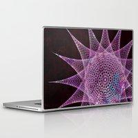 snowflake Laptop & iPad Skins featuring Snowflake by Nick Brummer