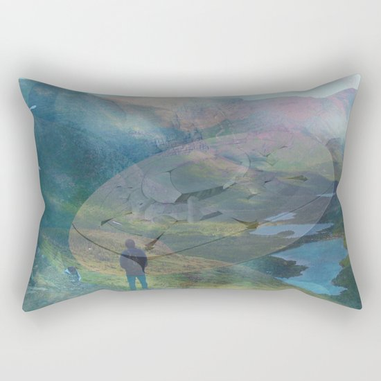 What is Reality? #2, Fun UFO image Rectangular Pillow