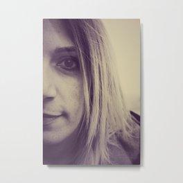 Modella Metal Print