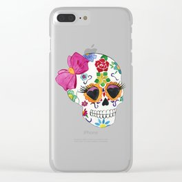 Sugar Skull Clear iPhone Case