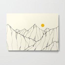 The yellow mountain sun Metal Print