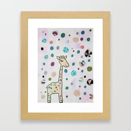 Nursery Art Cute Kawaii Giraffe Framed Art Print