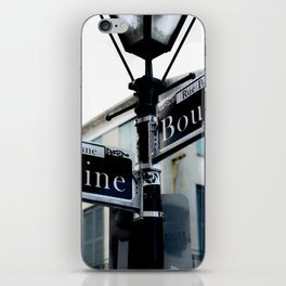 Dumaine and Bourbon - Street Sign in New Orleans French Quarter iPhone Skin