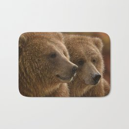 Brown Bears - Lazy Daze Bath Mat