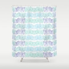 Sea Wave Clouds Shower Curtain
