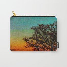 Turquoise Sunset Carry-All Pouch