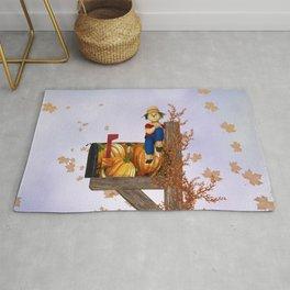 Seasons Mailbox Autumn Rug