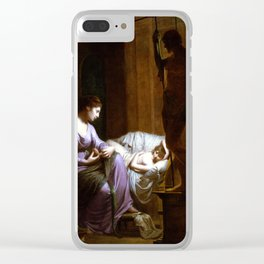 Joseph Wright of Derby Penelope Unraveling Her Web Clear iPhone Case