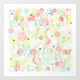50 Shades Of Bunny Art Print