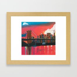 NYC in Twilight Framed Art Print