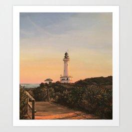 Lighthouse - colour Art Print