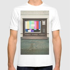 Floor Model Test Pattern MEDIUM White Mens Fitted Tee