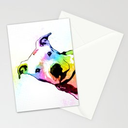 Pit bull   Rainbow Series   Pop Art Stationery Cards