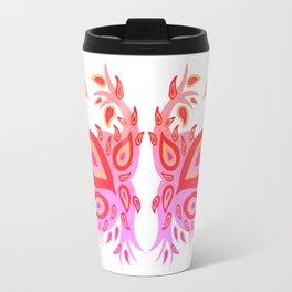 Peacock – Pink & Peach Ombré Palette Travel Mug
