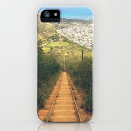 Koko Head Trail And Landscape View iPhone Case