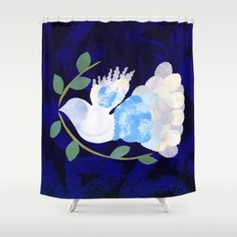 Peace Spirit Dove Shower Curtain