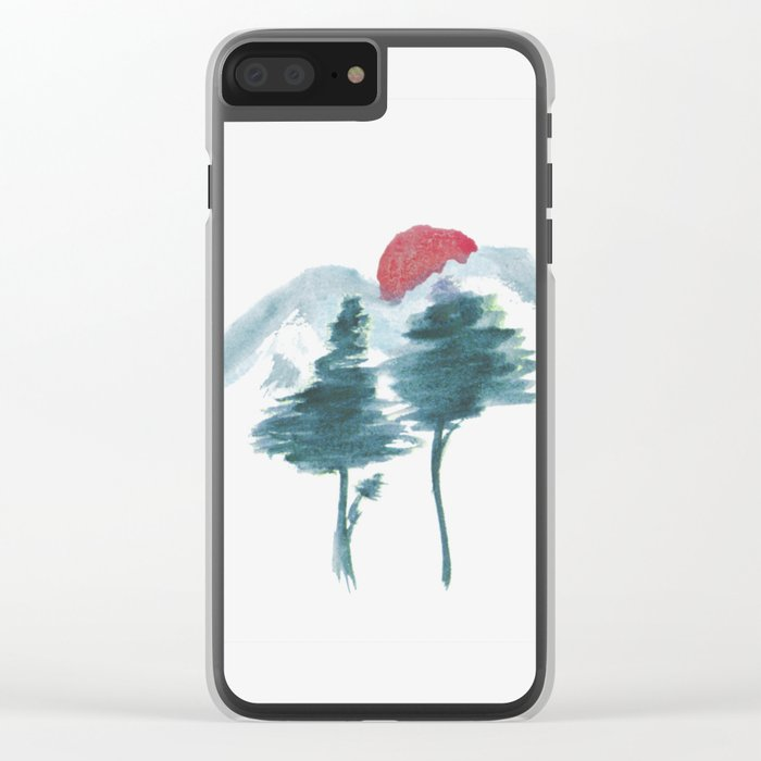 Japanese Alpine Sunset Clear iPhone Case