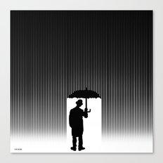 Charlie Chaplin Under The Rain Canvas Print