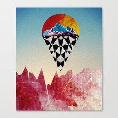 Heads on Sticks Canvas Print