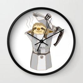 Sloth Espresso SLOPRESSO Wall Clock