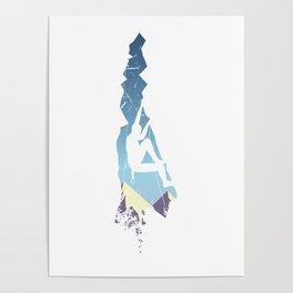 Vintage Longs Peak Mountain Climbing Poster