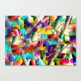 Disco Colors of San Antonio Canvas Print