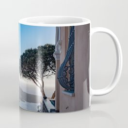 Lone Tree in Thira, View of Volcano in Santorini Coffee Mug