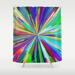 color wheel 06 Shower Curtain