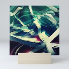 Abstract background 60 Mini Art Print
