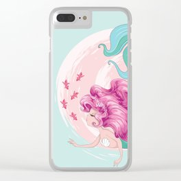 Mermaid with fishes Clear iPhone Case