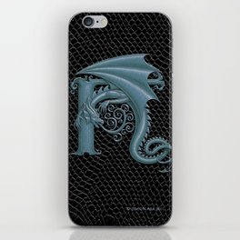 Dragon Letter H, from Dracoserific, a font full of Dragons. iPhone Skin
