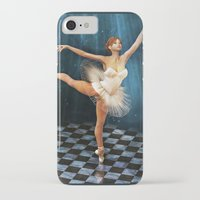 ballerina iPhone & iPod Cases featuring ballerina by Ancello
