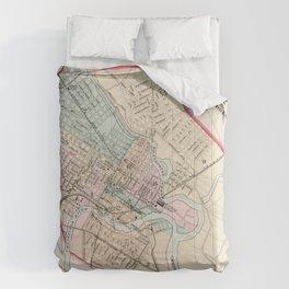 Vintage Map of Wilmington Delaware (1884) Comforters