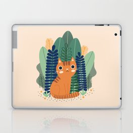 Orange Garden Cat Laptop & iPad Skin