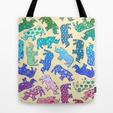 Rhino Patchwork Pattern - rainbow Tote Bag