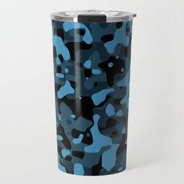 Dark Blue Camo Travel Mug