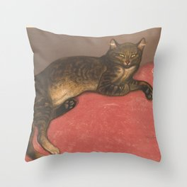 "Théophile Steinlen ""Winter Cat on a Cushion"" Throw Pillow"