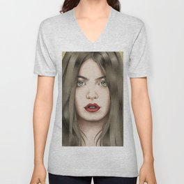 The eyes are the mirror of the soul Unisex V-Neck
