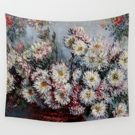 """Claude Monet """"Chrysanthemums"""", Vétheuil, 1878 Wall Tapestry"""
