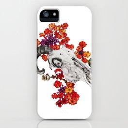 Goat skull iPhone Case
