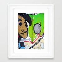grafitti Framed Art Prints featuring Grafitti Boy by Paulbo