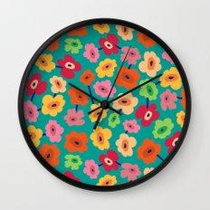 BP 13 Flowers Wall Clock