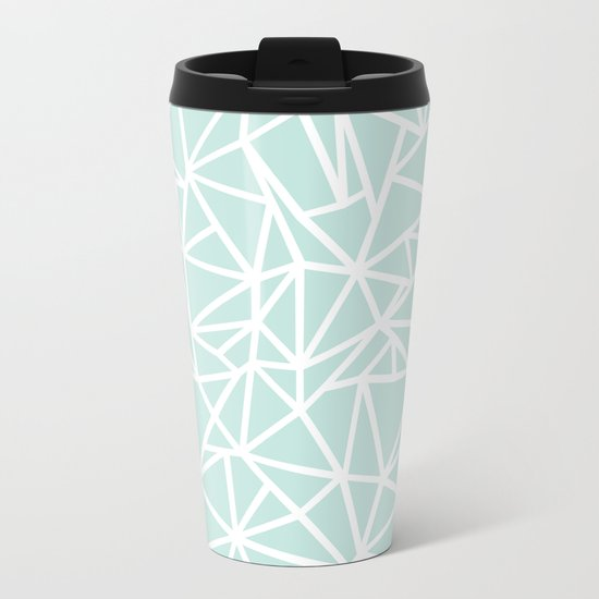 Ab Outline Thick Mint Metal Travel Mug
